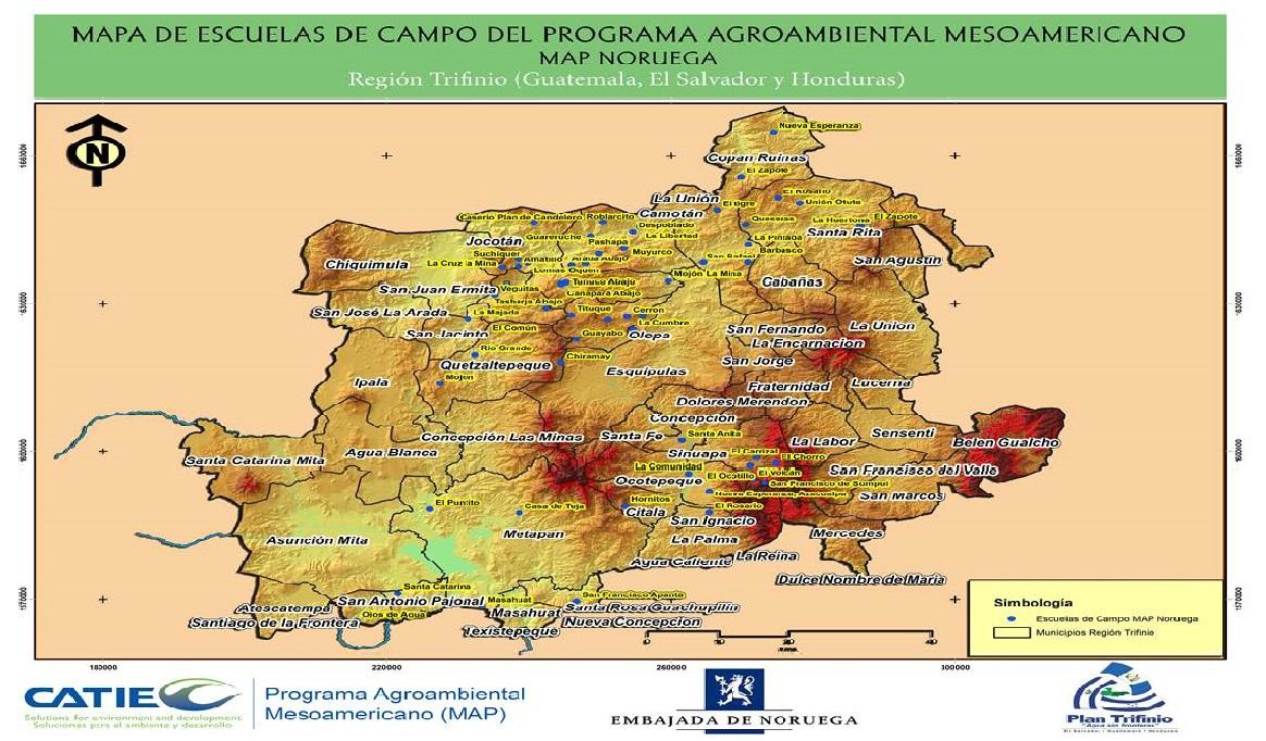 Mapa Escuela de Campo